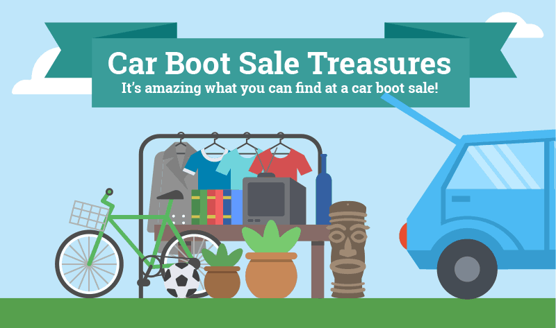 Car Boot Sale Treasures Infographic