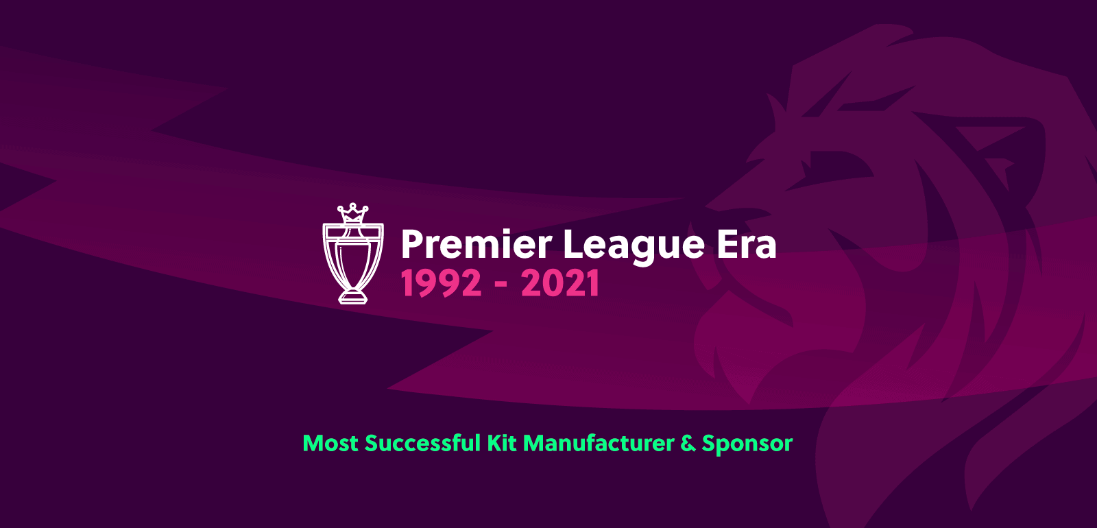 The most successful Premier League Era kit manufacturers unveiled